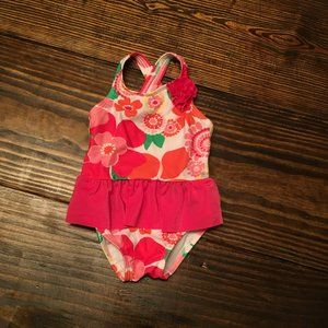 Gymboree Floral Ruffle Swimsuit